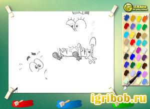 раскраски игры спанч боб в онлайн бесплатно